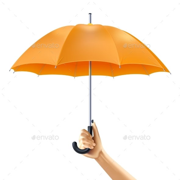 Umbrella in Hand - Miscellaneous Vectors
