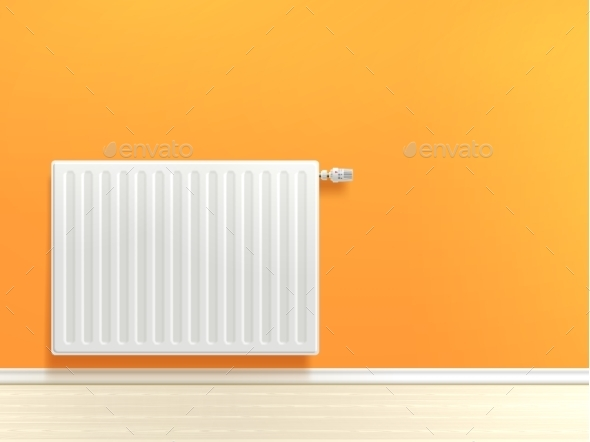 Radiator on Wall - Miscellaneous Vectors