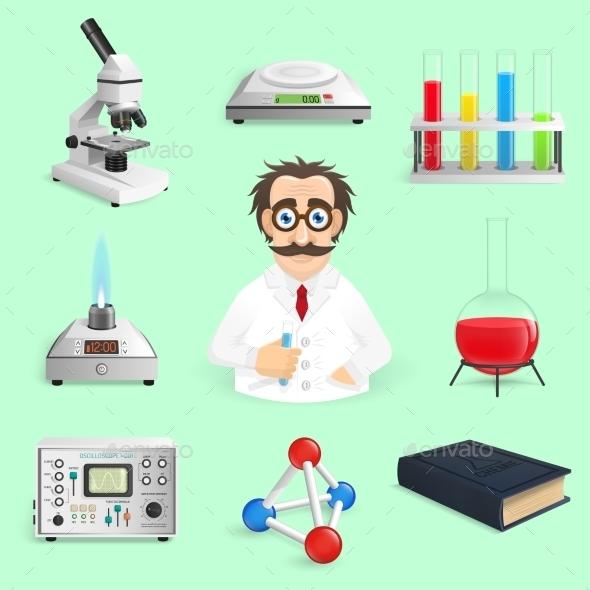 Science Icons - Miscellaneous Vectors