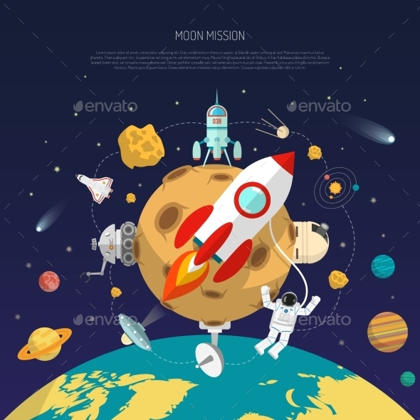 Space Mission Concept - Backgrounds Decorative