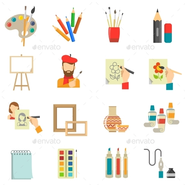 Art Icons Set - Miscellaneous Icons