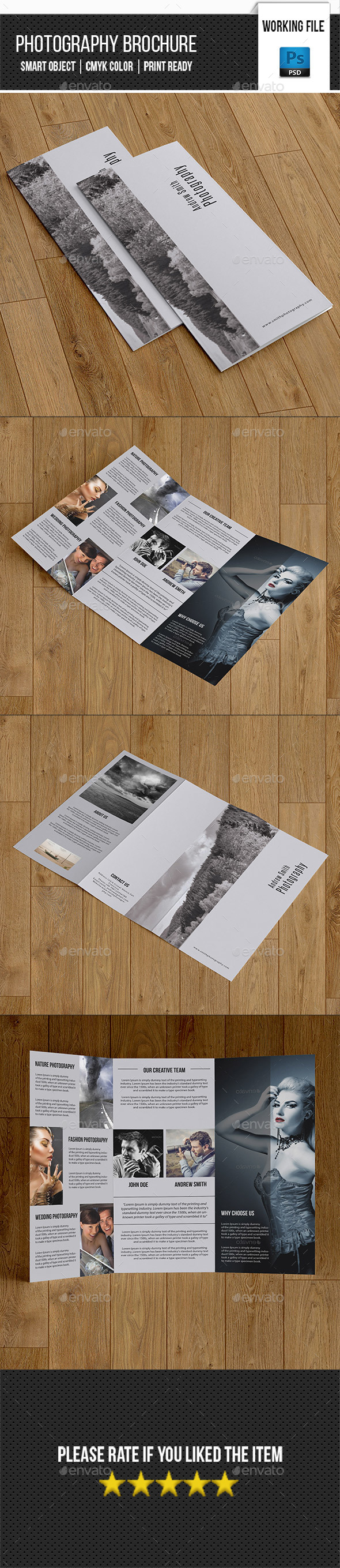 Minimal Photography Trifold Brochure-V258 - Corporate Brochures