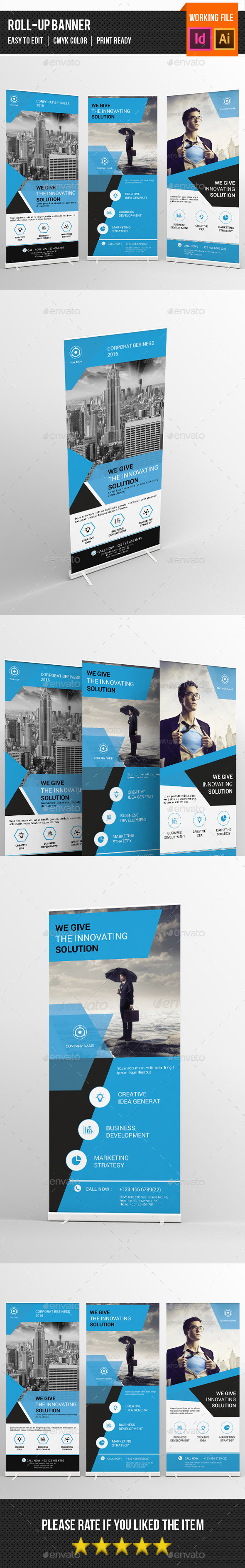 Corporate Roll up Banner-V02 - Signage Print Templates