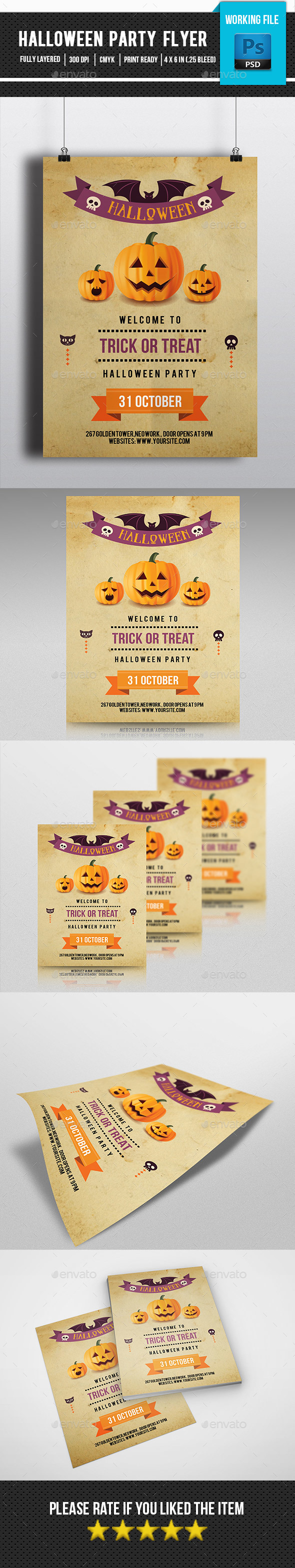 Retro Halloween Flyer-V121 - Clubs & Parties Events