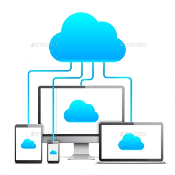 Cloud Technology Concept - Computers Technology