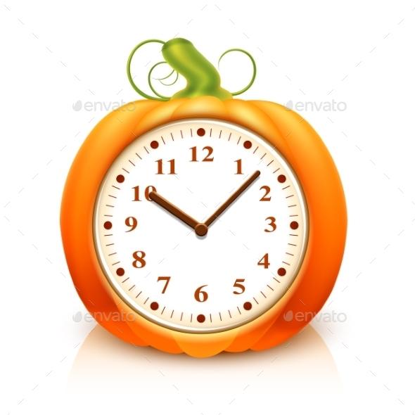 Pumpkin Clock - Food Objects