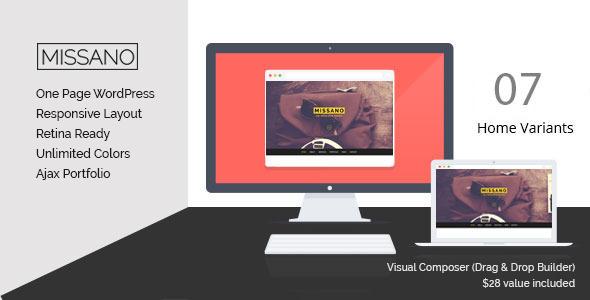 MISSANO - WordPress One Page Responsive Portfolio - Portfolio Creative