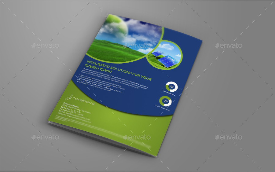 environment eco bi fold brochure template