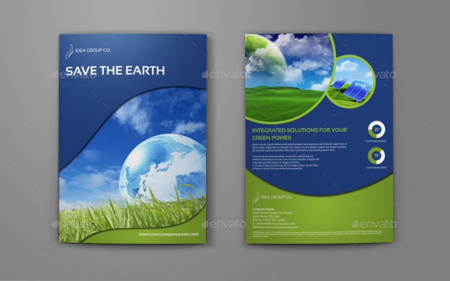 Environment ECO BiFold Brochure Template By OWPictures GraphicRiver - State brochure template
