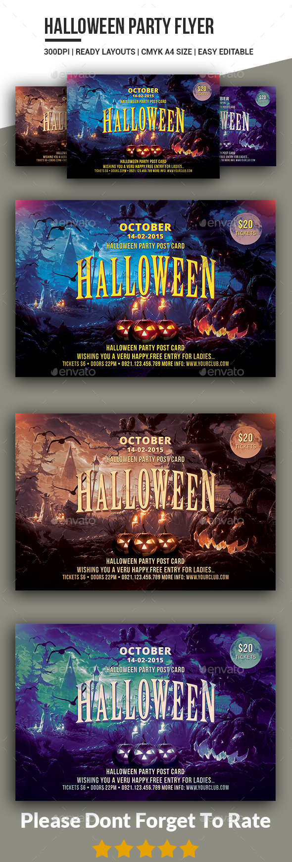 Halloween Party Flyer Templates - Clubs & Parties Events