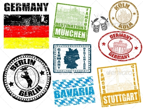 Stamps with Germany - Travel Conceptual