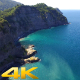 Aerial Fly Over High Rocky Cliff Coast (3 Clips) - VideoHive Item for Sale