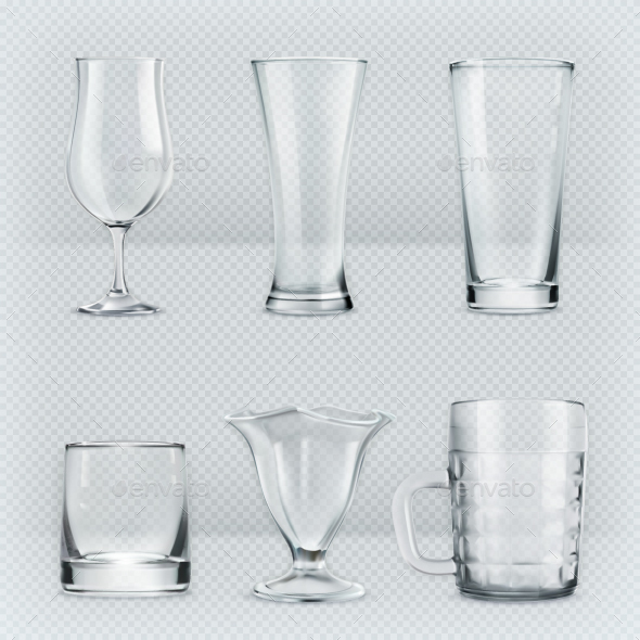 Transparent Glass Goblets - Man-made Objects Objects