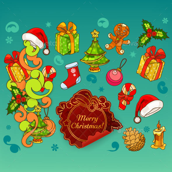 Christmas Doodle Icons - Christmas Seasons/Holidays