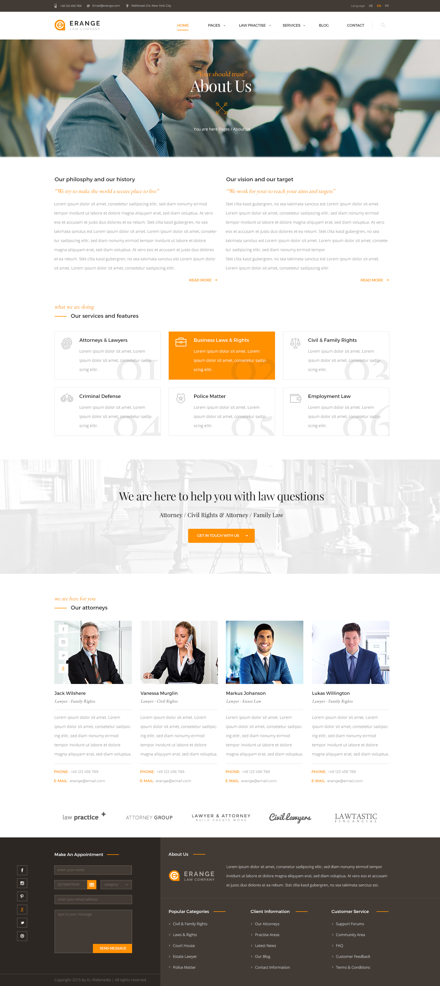 erange responsive html template for law firm by template path themeforest. Black Bedroom Furniture Sets. Home Design Ideas