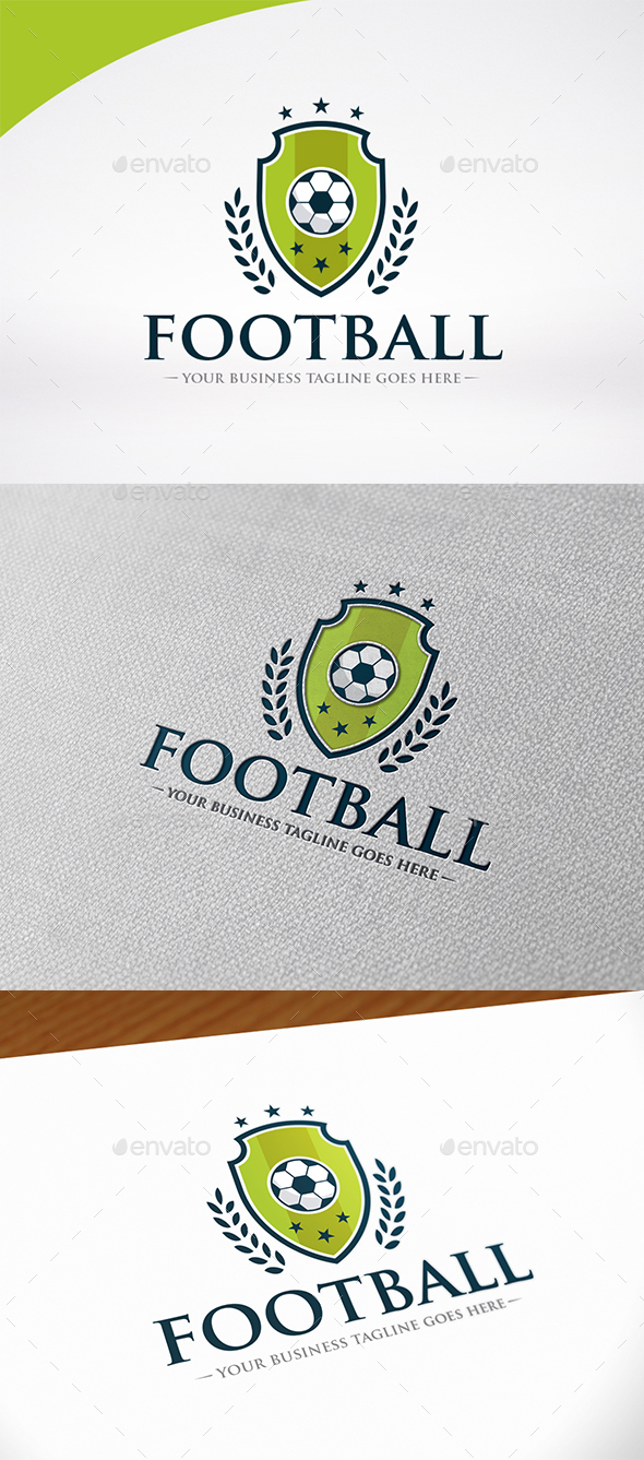 Football Shield Logo Template