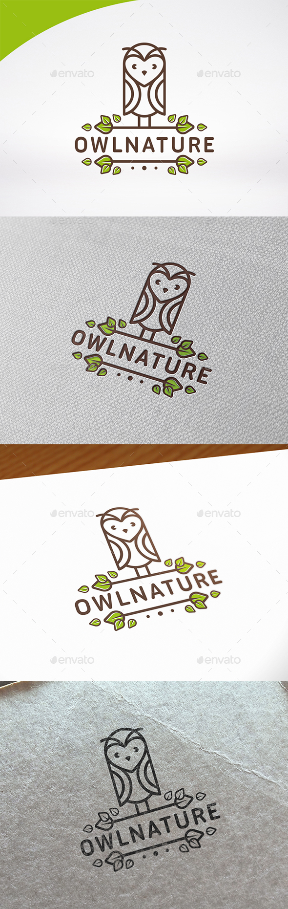 Owl Nature Logo Template