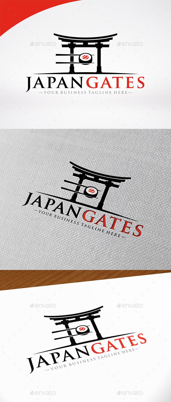 Sushi Japan Gate Logo - Food Logo Templates