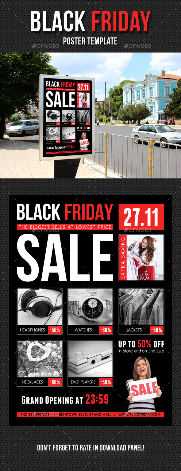 Black Friday Poster Template V01 - Signage Print Templates