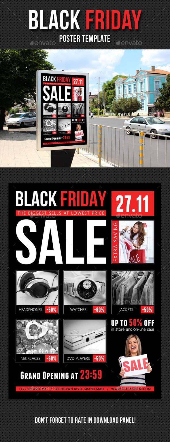 black friday poster template v01 by rapidgraf graphicriver. Black Bedroom Furniture Sets. Home Design Ideas