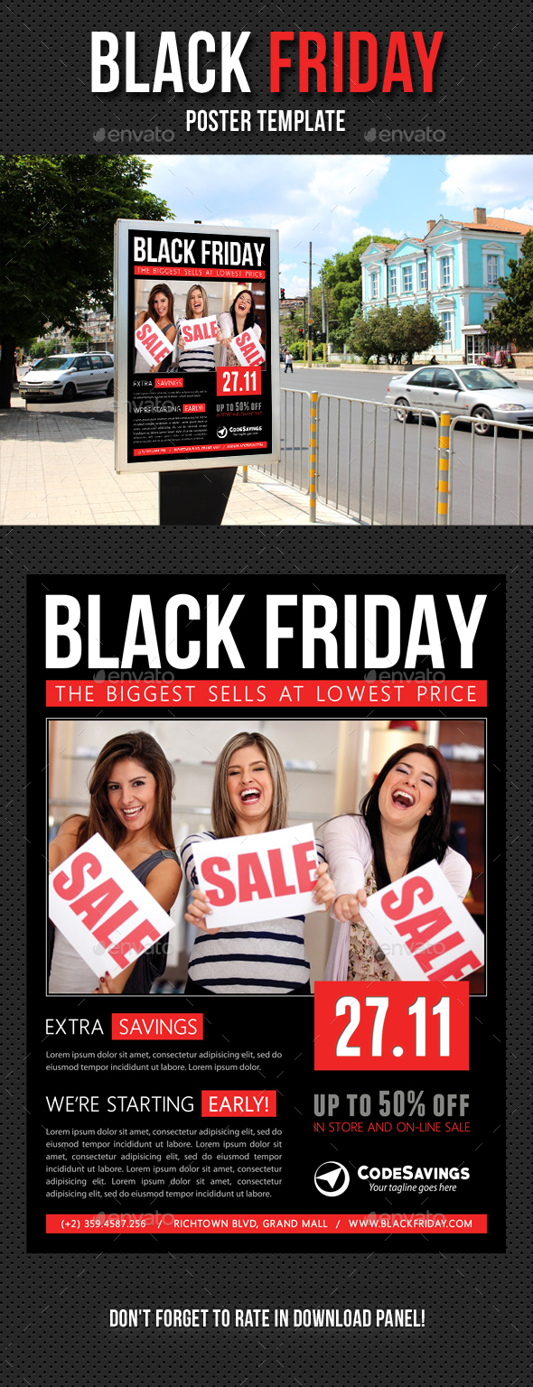 Black Friday Poster Template V02 - Signage Print Templates
