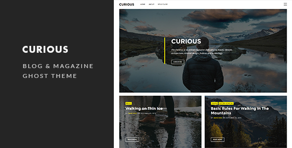 Curious – Blog and Magazine Ghost Theme