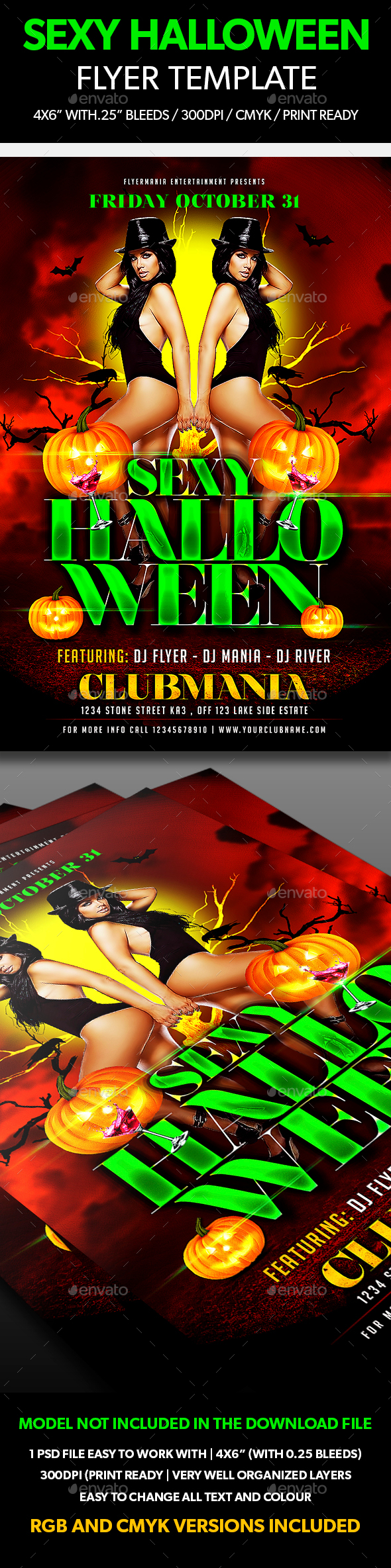 Sexy Halloween Flyer Template - Events Flyers