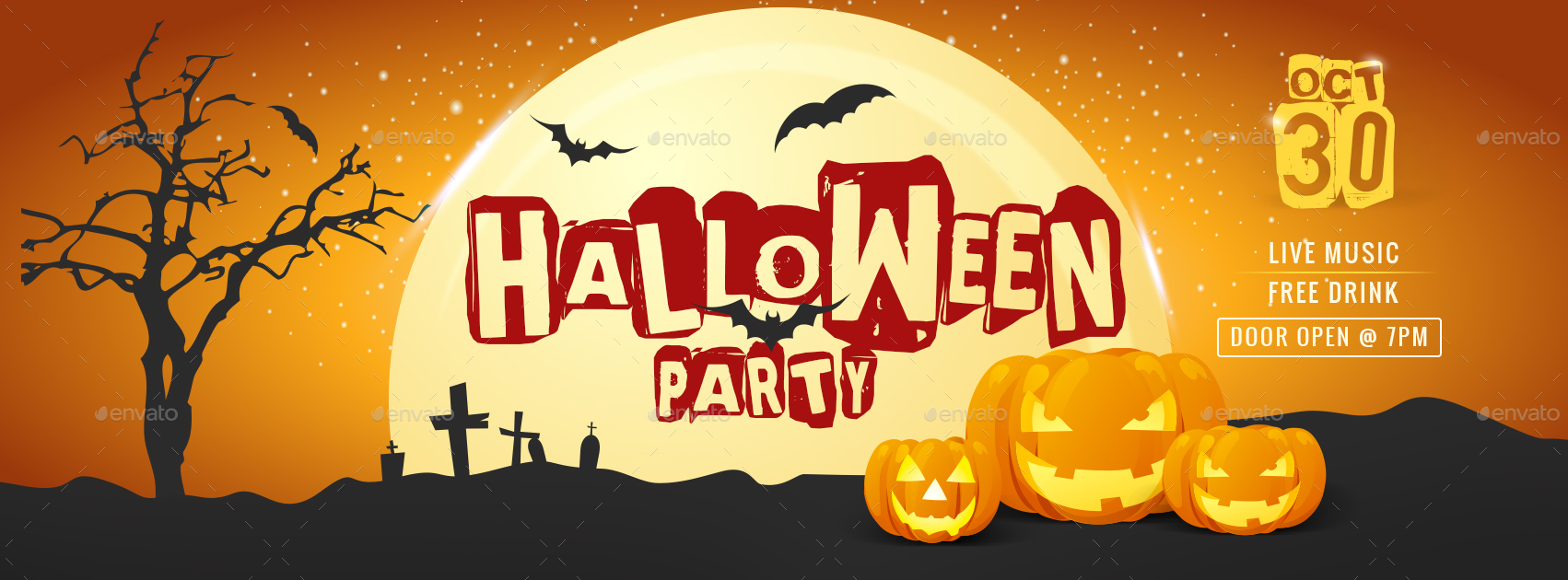 halloween party facebook coverhyov | graphicriver