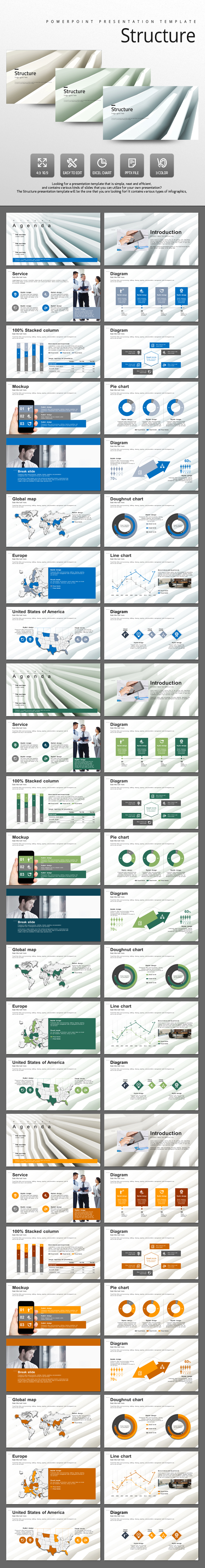 Structure - Abstract PowerPoint Templates