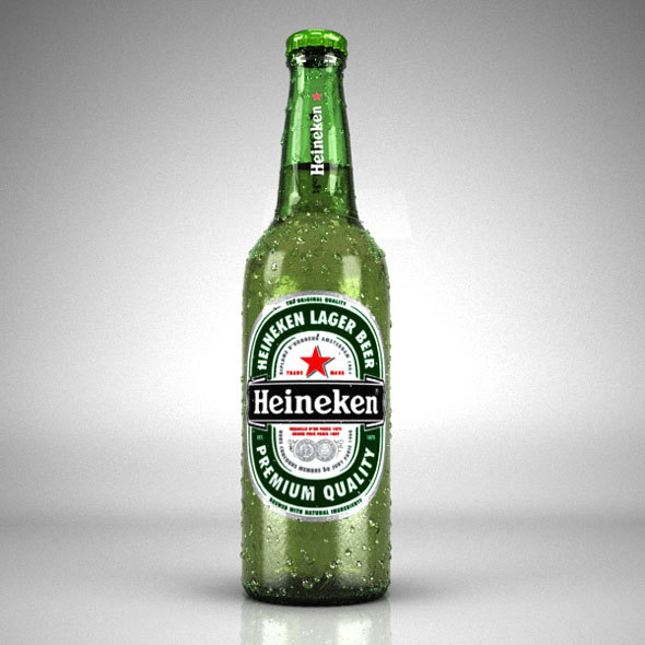 Heineken 3D Bottle - 3DOcean Item for Sale