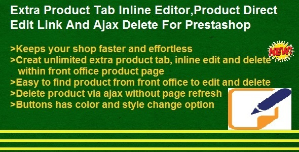 Product Direct Edit Link,Ajax Delete And Extra Product Tabs Inline Editor - CodeCanyon Item for Sale