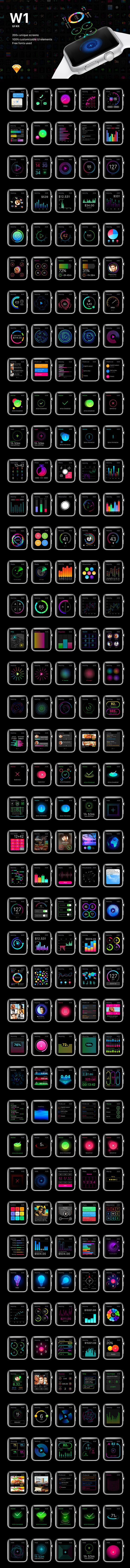 W1 UI Kit for watch Apps - 2