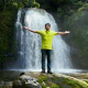 Man Posing at the Jungle Waterfall - VideoHive Item for Sale
