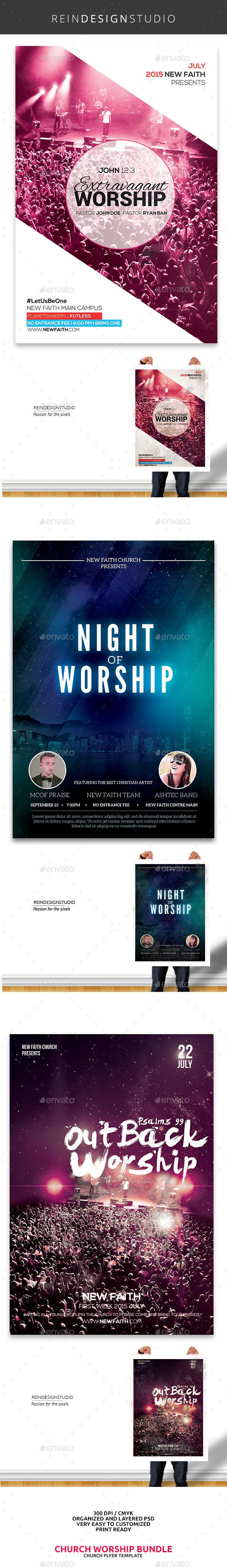Church Worship Flyer Bundle - Church Flyers