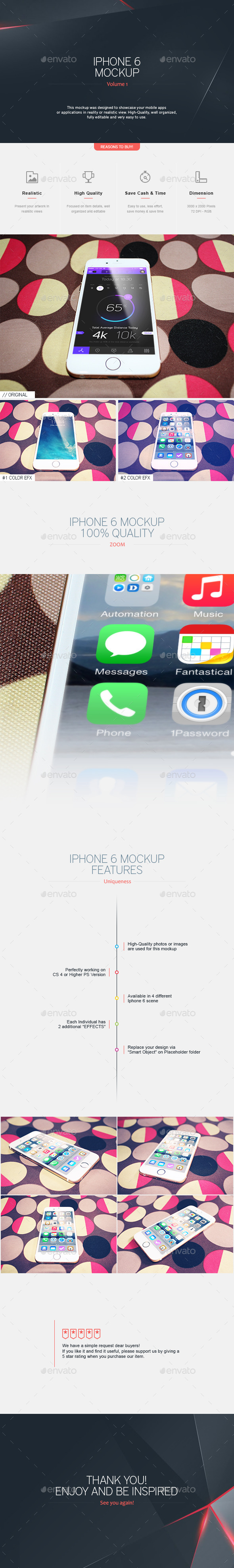 Iphone 6 Mockup V.1 - Mobile Displays