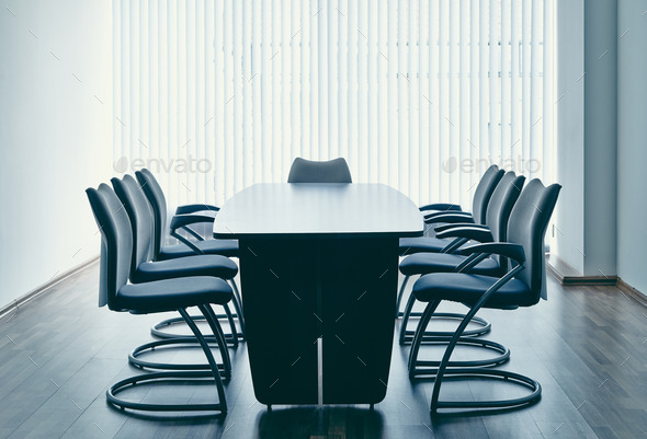 Table and chairs in office - Stock Photo - Images