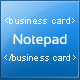 Notepad Business Cards - GraphicRiver Item for Sale
