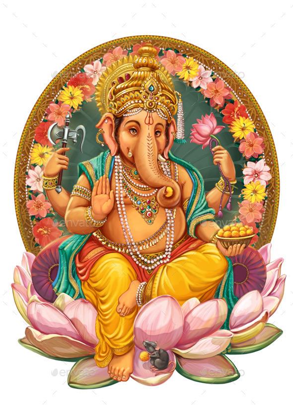 God Ganesha - Characters Illustrations