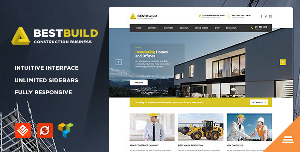 BestBuild - Construction WordPress Theme - Business Corporate