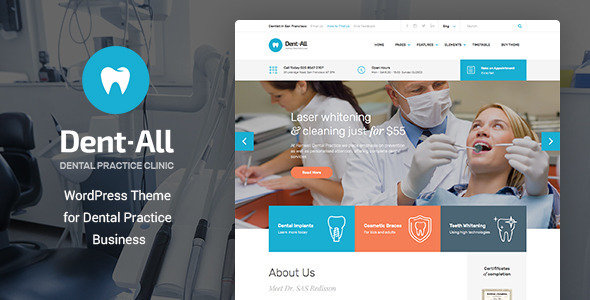 25+ Best Dental Care and Dentist WordPress Themes 2019 22
