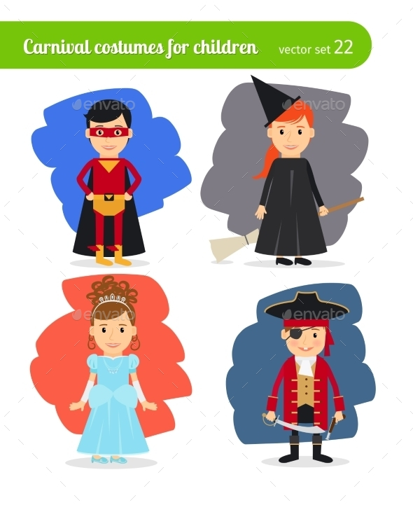 Kids Wearing Costumes - People Characters