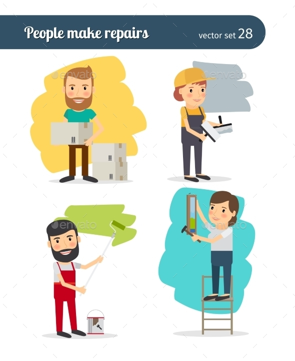 People Make Repairs - People Characters