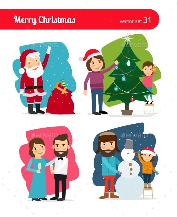 Christmas People - People Characters