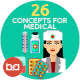 Flat Concepts for Medical & Healthy - GraphicRiver Item for Sale