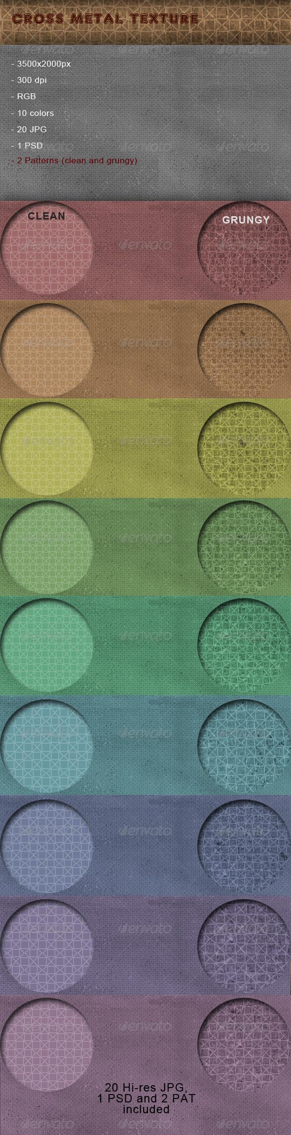 Cross Metal Texture - Patterns Backgrounds