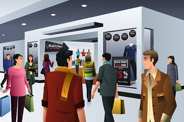 People Shopping on Black Friday - Commercial / Shopping Conceptual