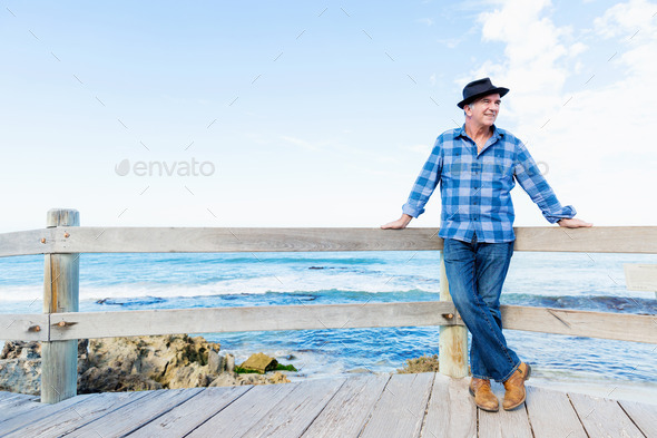 Nice morning to meet ocean - Stock Photo - Images