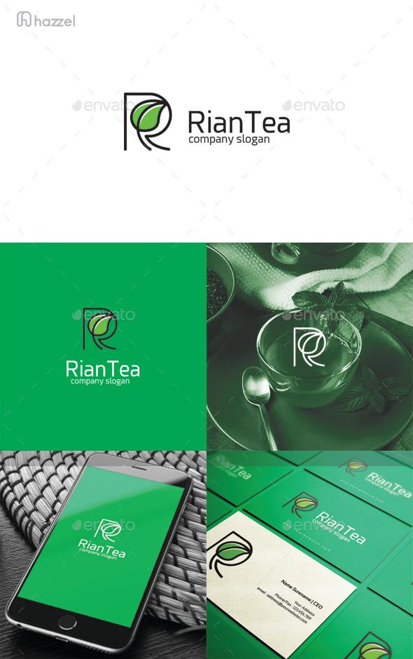 Rian Tea Letter R Logo
