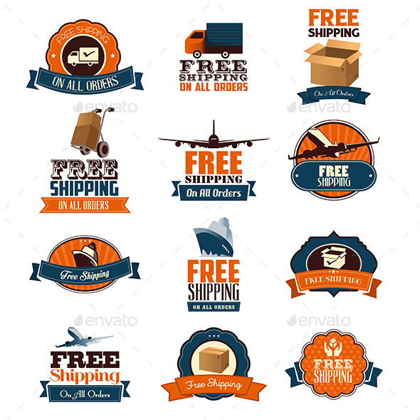 Free Shipping Icons - Services Commercial / Shopping