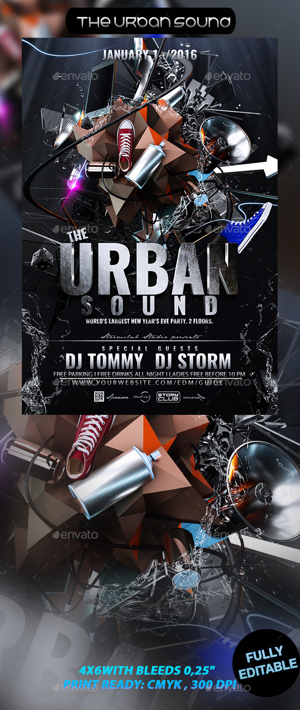 The Urban Sound - Events Flyers